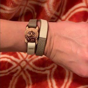 Marc Jacobs double wrap bracelet rose gold
